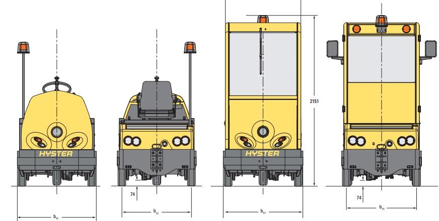 mô hình xe nâng điện kéo hàng đa dạng chủng loại