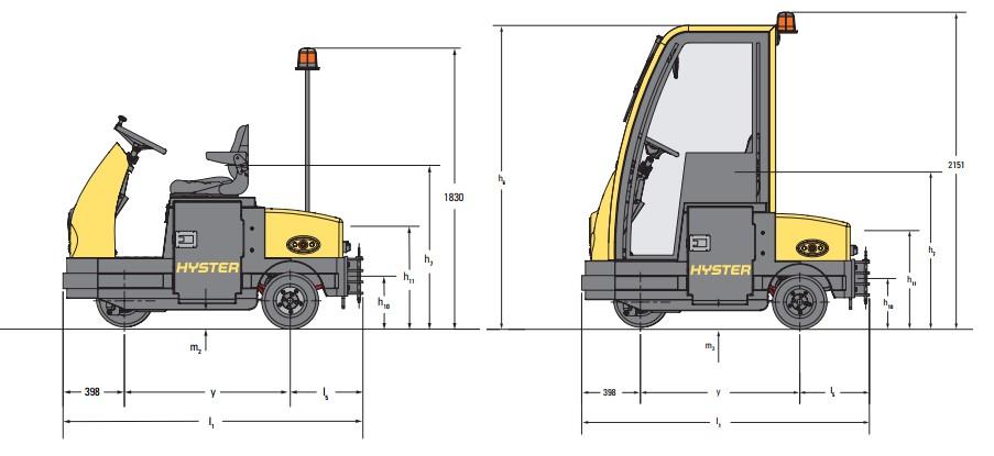 mô hình xe nâng điện kéo hàng